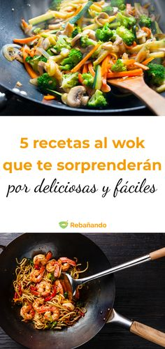 5 verführerisch leichte Wok-Rezepte Cooking in a wok is not only delicious, but also quick and healt Wok Recipes, Salad Recipes, Dinner Recipes, Cooking Recipes, Light Recipes, Berry Smoothie Recipe, Easy Smoothie Recipes, Healthy Snacks, Healthy Recipes