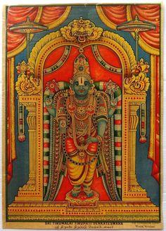 "India SRI TIRUMALAI TIRUPATI VENKATESWARA 9""x13"" poster Coronation Litho Works picclick.com"