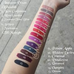 LA Splash Lip Couture Swatches of All Shades