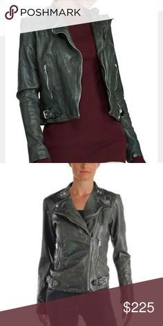 c93b38fa705 RALPH LAUREN LAUREN leather Moto jacket 😍😍 In burnished leather that will  only get more