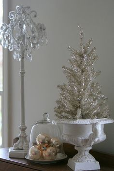 love the little silver tree in the urn!!