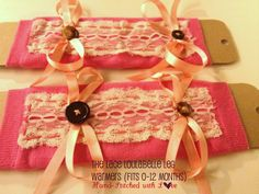 Lace baby leg warmers