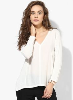 Buy Tom Tailor White Solid Blouse for Women Online India, Best Prices, Reviews | TO327WA18UMBINDFAS