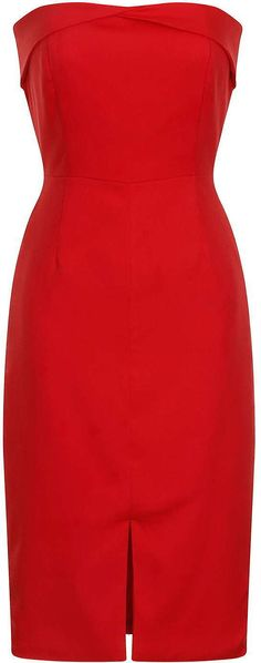 Womens poppy premium red bandeau dress by lavish alice from Topshop - £48 at ClothingByColour.com