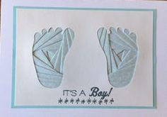 Baby Boy Feet Card by Reneespixiedust on Etsy