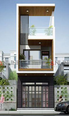 41 Delightful Minimalist Home Architecture Design Ideas That You Must See - Minimalist home designs are often chosen by house owners these days to refurbish or build their properties, because their simple and seamless style ma. Bungalow Haus Design, Duplex House Design, House Front Design, Small House Design, Modern House Design, Contemporary Design, Architecture Design, Narrow House Designs, Modern Minimalist House