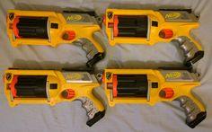 LIMITED! 4 x NERF MAVERICK BLASTER GUNS ELITE NSTRIKE BUNDLE JOBLOT STRONGARM