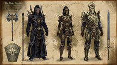 Concept Art - The Elder Scrolls Online The Elder Scrolls, Elder Scrolls Online, Game Concept Art, Armor Concept, Character Concept, Character Art, Character Design, Fantasy Armor, Medieval Fantasy
