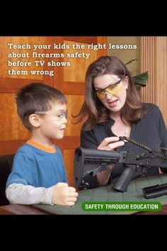 Teach your kids the right lessons about firearms safety before TV shows them wrong. Teach them RESPECT for a firearm. It isn't a toy, we don't point it at people-Safety through education Home Defense, Self Defense, Pro Gun, Personal Defense, Gun Rights, Gun Control, Guns And Ammo, Together We Can, The Victim