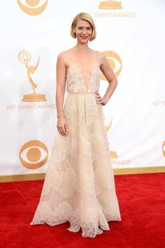 Pin for Later: Let's Flash Back to Who Wore What at Last Year's Emmy Awards  Armani Privé spelled easy glamour for Claire Danes.