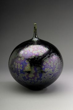 Hideaki Miyamura Bottle with Sea Foam Purple Glaze Porcelain