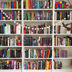 This cheery collection. | 26 Photos That Will Give You The Most Intense Bookshelf Envy