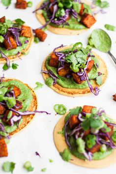 Tandoori Sweet Potato Socca Pizzas Recipe - these gluten free and vegan socca pizzas are easy to make and full of flavour, great for feeding a crowd! | eatloveeats.com