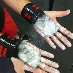WOD SuperStore Leather Palm Grip with Wrist Wraps - Our 5 Star Rated Pro-Series weightlifting wrist wraps with soft durable leather palm protection offers both men and women the best training experience and superior support in one.