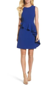 Main Image - Vince Camuto Ruffle Sheath Dress (Regular & Petite)
