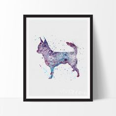 Description Created in an impressionistic + splattered watercolor style, this high quality art print will make those walls pop! This is a handmade print and artistic expression with variations in grai