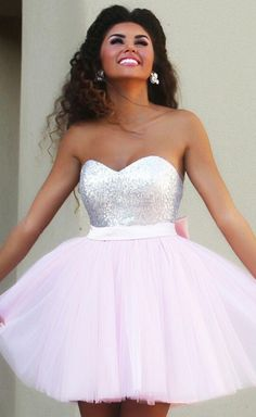 Light Pink Short/Mini Homecoming Dresses