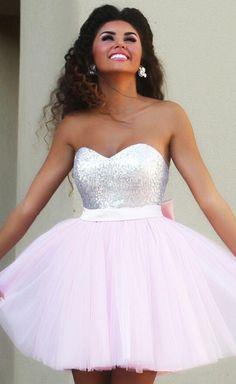 Light Pink Short/Mini Homecoming Dresses