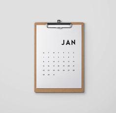 FREE Printable 2018 calendar download - minimal