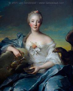 Madame de Caumartin as Hebe, 1753, por Jean-Marc Nattier