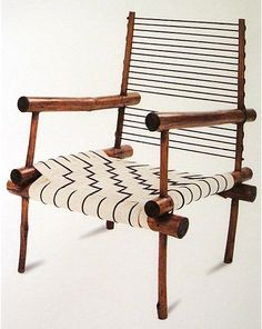 PIERRE JEANNERET, Bamboo armchair from the Maison Pierre Jeanneret (model PJ-SI-01-B), Chandigarh, India 1953-1954. / Galerie 54
