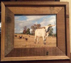 Texas Ranch, Sam Houston, 13 In, Longhorns, The Ranch, National Forest, Rustic Decor, Cow, Frame