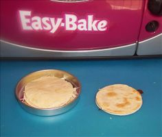 Easy bake oven english muffin pizza myahs easy bake oven diy easy bake oven quesadilla forumfinder Images