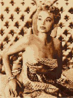 Cross stitch chart Lili St. Cyr Burlesque Art by HeritageCharts