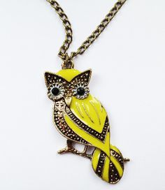 Bright Perching Owl Necklace £4