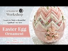 (156) Quilted No-Sew Easter Egg Tutorial - How to Make - YouTube Bunny Crafts, Easter Crafts, Easter Decor, Easter Ideas, Folded Fabric Ornaments, Easter Egg Pattern, Quilted Christmas Ornaments, Ornament Tutorial, Baubles And Beads