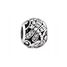 4605babff Silver Dragonfly Charm Bead with CZ, fits Pandora Bracelets or Any Necklace