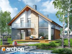 projekt Dom w kokornaku widok 1