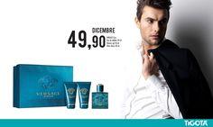 Cofanetto @Versace uomo. Scopri tutti i profumi in regalo da #tigotà. #natale #dicembre