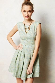 Parkside Pleated Dress - anthropologie