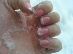Drying off my pink and silver French mani. I might add a heart or two for Singles Awareness Day, a.k.a Valentine's Day