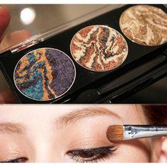 3 colores de la mezcla mineral planeta baked sombra de ojos paleta de sombra de ojos 2017 última moda de las mujeres de maquillaje cosmético