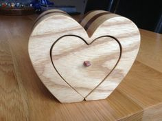 Handmade Heart Shaped Trinket Bandsaw Box