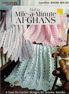 baby mile a minute afghan patterns - Google Search