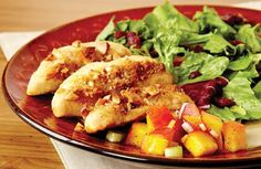 almond chicken with peach relish http://www.giantfood.com/recipes-and-meals/recipe-center/poultry/