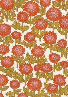 Pikkudaalia (tapettitehdas Pihlgren & Ritola) Tile Patterns, Flower Patterns, Print Patterns, Cute Wallpapers, Wallpaper Backgrounds, Wallpaper Ideas, Iphone Wallpapers, Artsy Background, Aesthetic Space