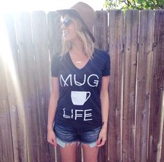 MUG LIFE! Coffee and Tea... or whatever you put in that mug of yours that keeps you going through the day! Your new staple coffee shirt! Show your MUG LIFE pride in this super soft, super hip tee! Fit