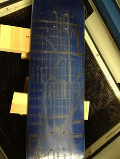 My new laser etched skateboard. It's a map of my neighborhood. My wife has some pretty awesome ideas.