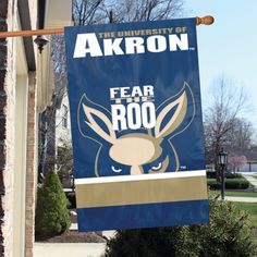 Akron Zips Applique Banner Flags