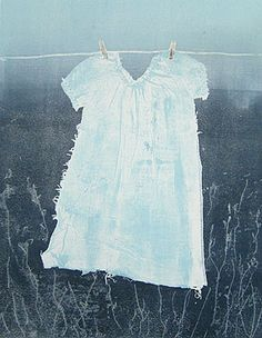 Nightgown by Sarah Wilson monoprint - 18.9 inches by 14.57 inches