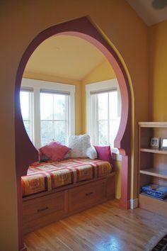 Rockridge Craftsman interior remodel-love the recess design!