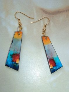 Polymer clay earrings | Flickr - Photo Sharing!