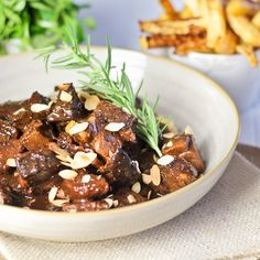 Fig and Almond Lamb Stew | http://thehealthyfoodie.com/2013/05/14/fig-and-almond-lamb-stew-with-oven-baked-turnip-fries/
