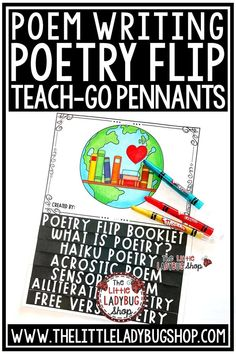 This Poetry Flip Book is perfect for demonstrating mastery! This is a great culminating Interactive Activity! Perfect for your Poetry Writing Interactive Notebooks! This Poetry Writing works perfectly for students in 2nd grade, 3rd grade, 4th grade. #poetrywriting #poetryflipbook