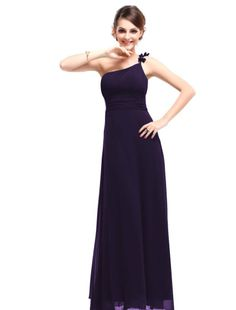 Ever Pretty Flower Ruffles One Shoulder Empire Line Formal Party Evening Dress Size 09596: Amazon.co.uk: Clothing