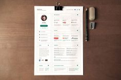 UI Concept Resume by Artalic on Creative Market